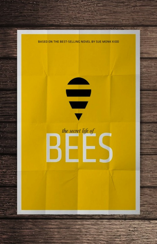 bees minimalistic movie posters
