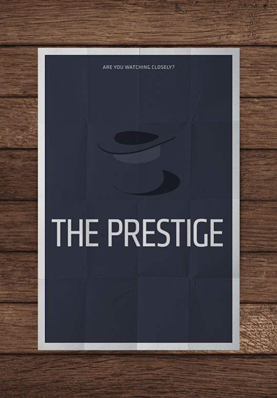 prestige minimalistic movie posters