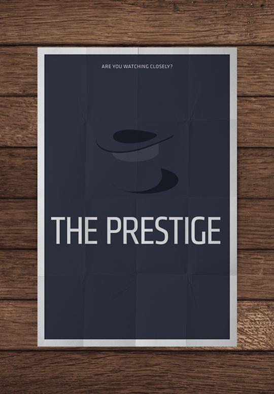 prestige minimalistic movie posters
