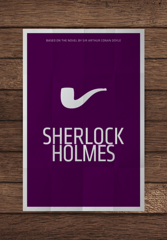 sherlock holmes minimalistic movie posters