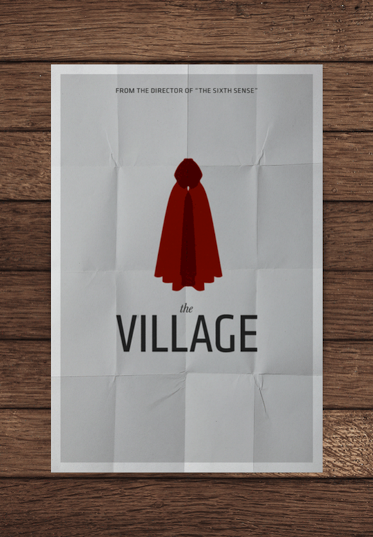 village minimalistic movie posters
