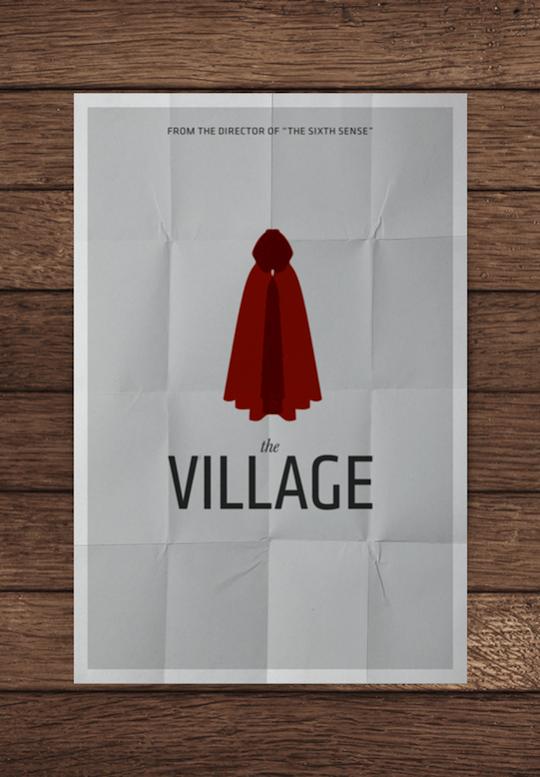 village minimalistic movie posters
