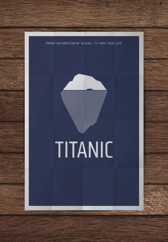 titanic minimalistic movie posters