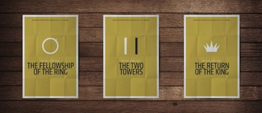 the tow towers minimalistic movie posters