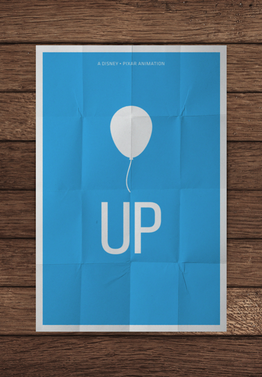 up minimalistic movie posters