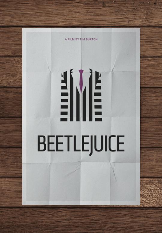beetlejuice minimalistic movie posters