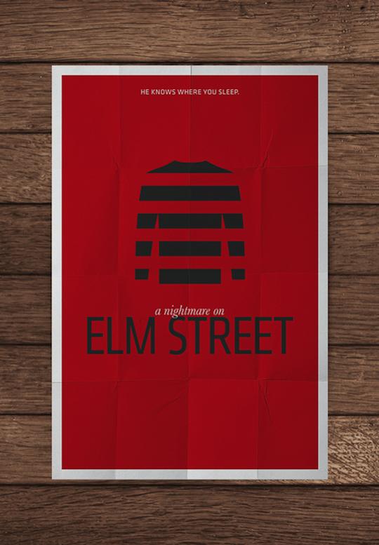 elm street minimalistic movie posters