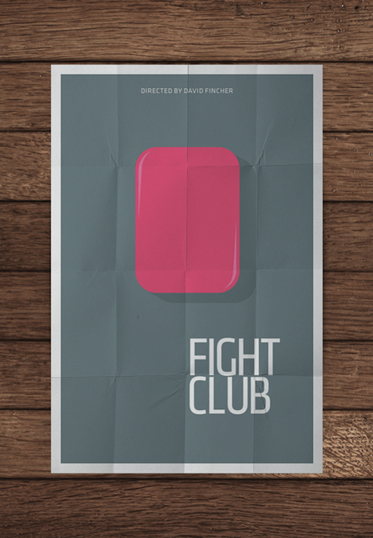 fight club minimalistic movie posters