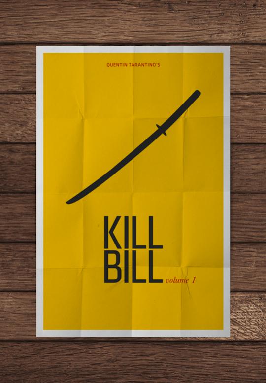 kill bill minimalistic movie posters