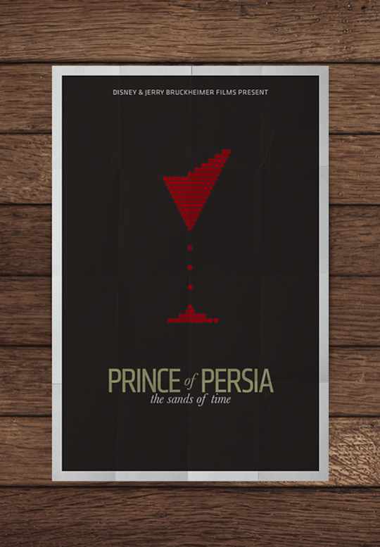 prince of persia minimalistic movie posters