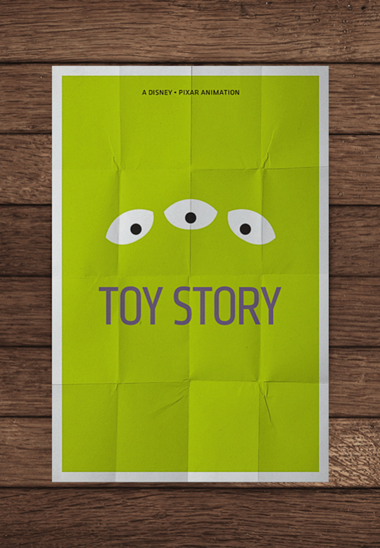 toy story minimalistic movie posters