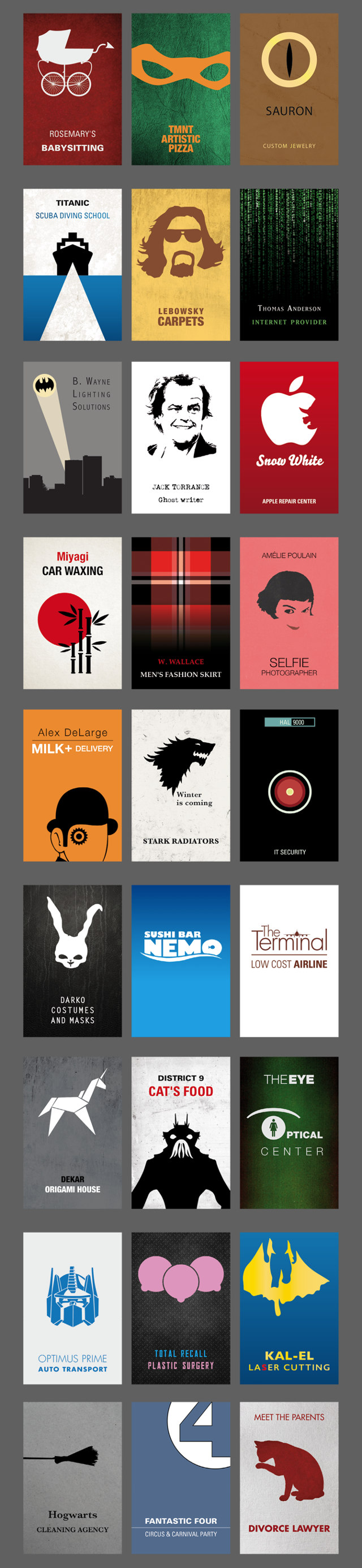 Movie character business cards 2 fizx movie character business cards 2 colourmoves