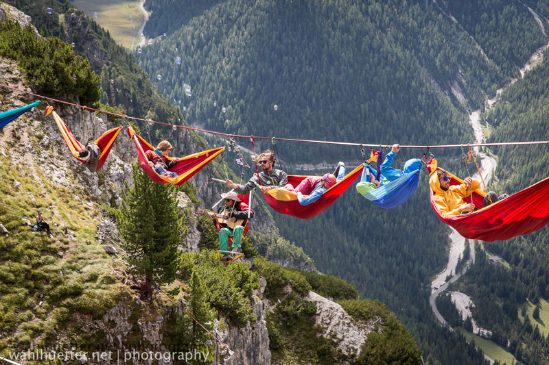 High In The Sky Hammock Party in Dolomites (6) | FizX