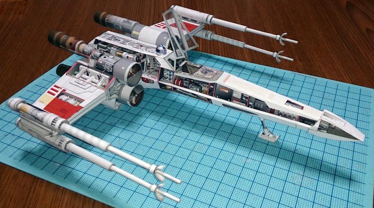 Как сделать корабль из звёздных войн из бумаги