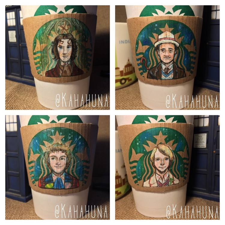 DOCTOR WHO Art Series on Starbucks Coffee Cups