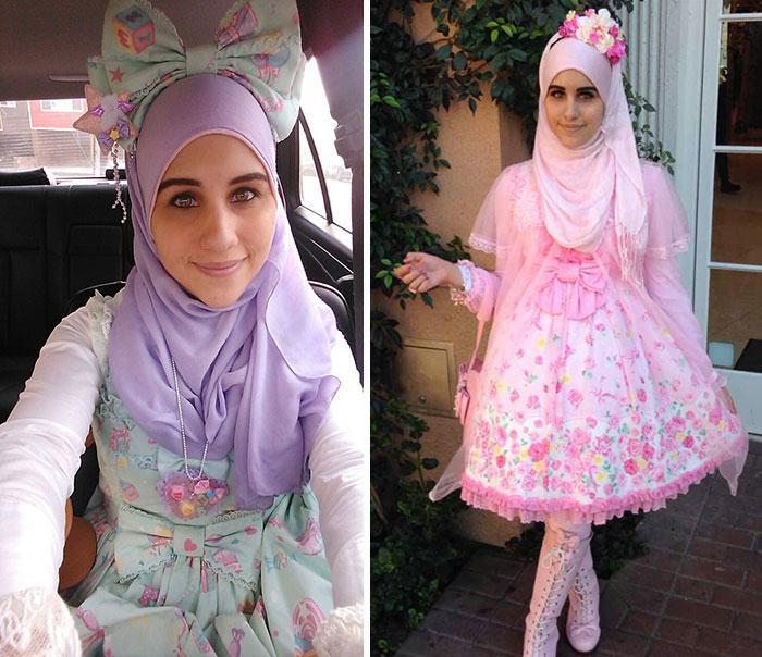 Muslim Lolita Hijab Japanese Fashion Anime 36 1