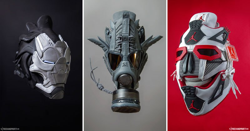 Guy Can Turn Your Sneakers Into a Crazy Masks
